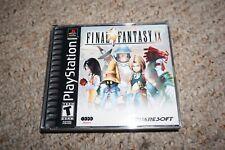 Final Fantasy Ix 9 Original Release Black (Sony Playstation 1 ps1) Complete