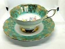 VINTAGE ROYAL STAFFORD GOLD CHINTZ ROSES TEA CUP SAUCER BONE CHINA