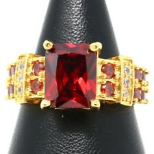 Vintage Antique Red Ruby Ring Women Wedding Engagement Jewelry Size 5 6 7 8 9