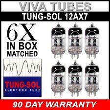 New Gain Matched Sextet (6) Tung-Sol Reissue 12AX7 ECC83 Tubes - Auth. Dealer
