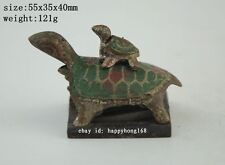 Four rare chinese bronze tortoise-shaped seal a01