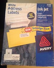 """6245 Avery 68 Sheets 1040 Labels Address 2-5/8"""" x 1"""" 30 labels per sheets White"""