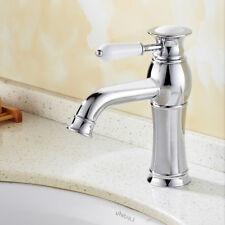 Retro Nostalgie Wasserarmatur Wasserhahn  mit Keramik Griff Mischbatterie Bad