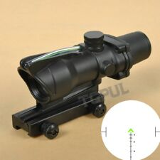 ACOG 4x32 Chevron BDC Scope Reticle Sight Clone CHEVRON Green Fiber Optic Scope