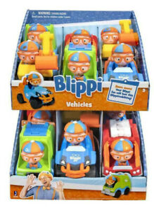 1 x BLIPPI - Mini Toy Vehicles - 3 Assorted Designs to Choose YouTube Star