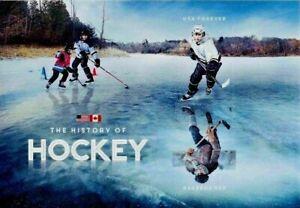 US CANADA HISTORY NORTH AMERICAN HOCKEY 2 MVF FOREVER STAMP NIP MINI SHEET 5253b
