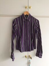 Lovely Ladies T.M. Lewin Shirt. Purple Pinstripe. Size 12. 100% Cotton.