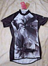 NWT Womens S CANARI Black & White Cycling Racing Vest Biking Top Shirt SPORT