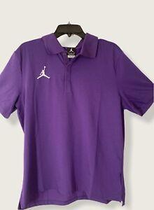 Air Jordan Nike Dri-Fit Polo Premium Shirt Purple Men's Sz Large $75 CD2216-419