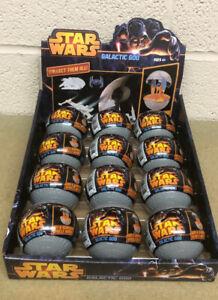 BOX OF 12 Star Wars Death Star Galactic Goo Mini Vehicle Mystery Eggs