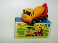 Matchbox Superfast No 21 Foden Concrete Truck OPEN front Bumper EXIB VERY RARE