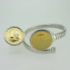 Sterling Silver Lire Italy Italian Coin Ring Bracelet Set