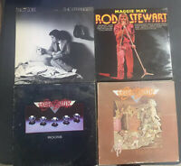 Classic Rock Vinyl Lp Lot Aerosmith Billy Joel Rod Stewart Rough Shape See Pics