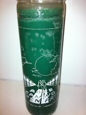ROAD OPENER 7 DAY UNSCENTED GREEN CANDLE IN GLASS (ABRE CAMINO)