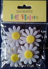 SELF-ADHESIVE FLOWERS ~ FELT DAISIES ~ EASTER / Craft Activities (Pack of 8)