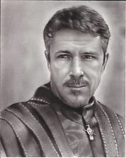 "Game of Thrones Petyr Littlefinger Baelish ART CHARCOAL DRAWING 8X10"" ORIGINAL"