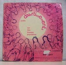33T 25 cm JEUX ET RONDES Disque Vinyl M.LAMBERT MONIQUE - DISQUES DEVA 3 RARE