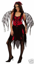 LADIES SPIDER FAIRY FANCY COSTUME HALLOWEEN PARTY DEVIL FITS SIZE 12-14 REDUCED