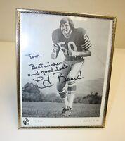 Vintage Black & White Ed Beard San Francisco 49ers Autographed Signed Photo