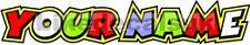 2x CUSTOM ROSSI STYLE SCREEN NAME DECALS STICKERS GRAPHICS