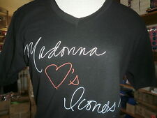 Lot of 12 MADONNA Loves Iconers Shirts Small NEW V-Neck Black Promo Concert Tour