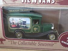 Lledo stevelyn MODEL A FORD vista Van, Seaton Tramvia, Apri Top verde-TRAM