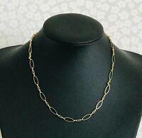 """Vintage M&S Gold Plated 18"""" 46cm Fancy Link Chain Necklace  (D7J5)"""