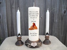 Personalised Wedding Unity Candles Disney Lion King Keepsake Gift Centrepiece