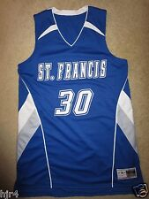 St. Francis High School Wolves #30 Basketball Game Worn Used Jersey Lg L