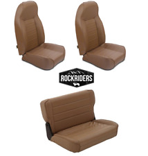 1976-95 Jeep Wrangler CJ7 Front and Rear Complete Seat Combo Set of Three Spice
