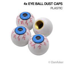 4x Eye Ball Car Bike Motorcycle BMX Wheel Tyre Valve Plastic Dust Caps