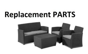Replacement Parts For Allibert Wicker/ Mia / Keter Furniture Set Plastic Black