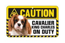 Dog Sign Caution Beware - Cavalier King Charles Spaniel Blenheim