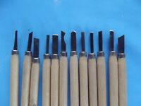 12 Ancien ciseaux à Bois pour tournage sculpture façonnage Gravure Vintage job