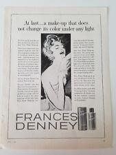1955 FRANCES DENNEY Viva fluid makeup cosmetic Beauty vintage ad