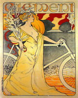 POSTER CLEMENT CYCLE BICYCLE FRENCH CYCLING BIKE VINTAGE REPRO FREE S/H