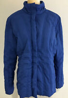Pendleton Women's Puffer Jacket Feather Down Coat Full Zip Pockets Blue XL C