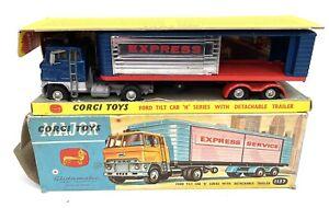 Corgi Toys 1137 Ford Tilt Cab Express Service Trailer.
