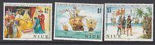 SHIPS: NIUE 1988 Columbus set SG731-3 n.h.mint