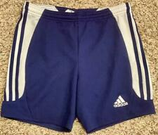 """A*""  ADIDAS SMALL navy with white stripes shorts"