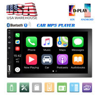 """2 Din 7"""" Car Stereo Radio MP5 FM Player AUX Touch Screen Mirror link USB"""