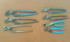 CHANNELLOCK TOOL LOT of 7 slip joint pliers and other mechanic tools USA