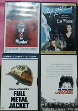 4 Dvd Classic movie Hitchcock Kubrick Collection Rear Window Dial M for Murder