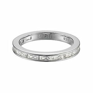 Esprit Ring ESRG91670A180 Damen 925er Sterling Silber Zirkonia NEU & OVP