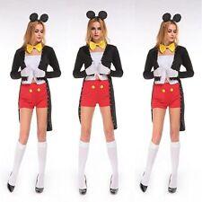 Halloween Party Adult Ladies Fancy Dress Mickey Tuxedo Costume Animals Cosplay