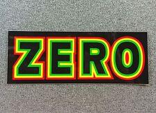 ZERO RASTA BOLD Skateboard Sticker LARGE 5.5in si