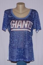 Touch by Alyssa Milano New York Giants Womens Scoop Neck Burnout T-Shirt XL