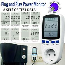 Digital KWH Zähler Steckdose Wattmeter Energieverbrauch Messgerät Stromzähler