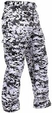 Men's City Digital Camo BDU Cargo Pants - Black & White Camouflage Rothco 2XL