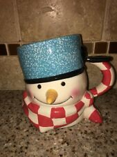 Hallmark Mitford Snowman Cup Jan Karon Percy Oversized 3D Christmas Coffee Mug